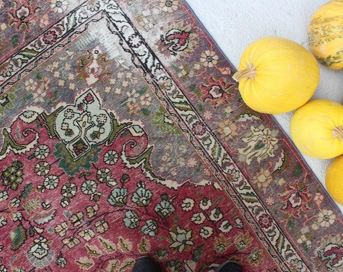"8'5""x11'6"" ft Large Area Rug, Large Vintage Rug, Large Turkish Rug, Vintage Kayseri Rug, Vintage Low Piled Large Area Rug"