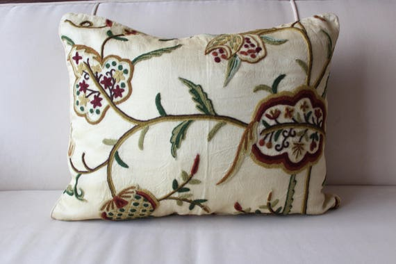 40x 40 Inch Suzani Silk Pillow CoverBohemianEthnicEclectic Etsy Impressive 27 Inch Pillow Covers