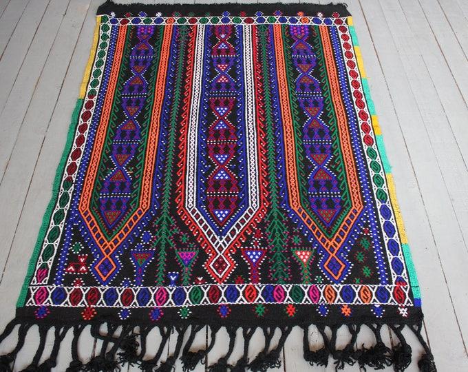 "3'6""x4'7"" ft  Vintage Bohemian Ethnic Kilim Rug, Handwoven Wool Kilim Rug, Vintage kilim Rug,Turkish Kilim, Anatolian Kilim Rug"