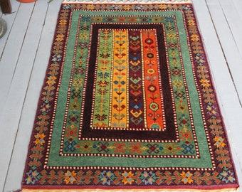 SIVAS ZARA Handwoven Wool Rug, Bohemian Carpet,Home decor,Floor Rugs,Aztec Rug