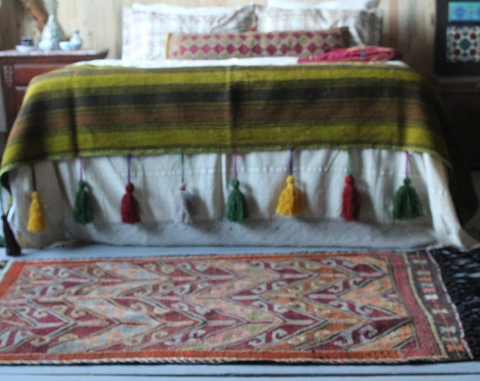 "3'2""x5'0' Vintage Kilim,Mut Cicim Kilim,Kelim,Turkish Anatolian Kilim,Handwoven Wool Wall hanging"