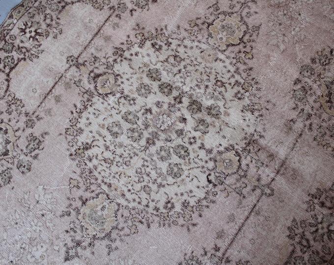 Vintage Powder Pink  Oushak Rug,Handwoven Wool Carpet, Ethnic Bohemian Wool Rug  FREE SHIPPING