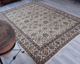 "7'5""x10'5"" ft Vintage OUSHAK Rug, Large Area Rug, Large Oushak Rug, Large Turkish Rug, Large Anatolian Rug,"