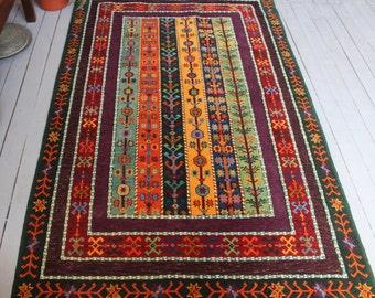 SIVAS ZARA Rug, Handwoven Wool Kilim Design Rug,Carpet,Home Decor,Boho Rug
