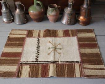 Bohemian Ethnic Tribal Handmade Patchwork  Small  Kilim