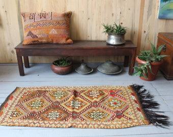 Bohemian Cicim Kilim, Vintage Kilim rug, Ethnic Kilim,Decorative Kilim,Kilim Wall Hanging