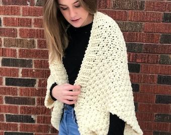 "The ""Tribeca"" Knit Blanket Sweater - Fisherman"