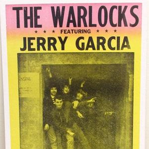 The Grateful Dead 1960/'s Art Nouveau Framed /& Mated Concert Poster 20 x15