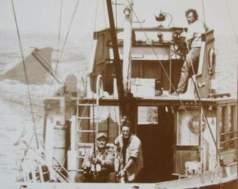 JAWS Minimalist Art Print Poster Quint Hooper Brody McFarlane Blu Book Orca Boat