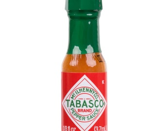 12Ct 0.125oz Mini Tabasco Sauce Bottles, Party, Wedding, Birthday, Baby Shower, Condiments, Bridal Shower, favors, gifts, concession stand