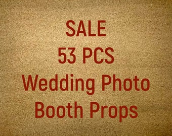 53CT Wedding Photo Booth Props, Party Props, Photo Booth Props, Wedding Supplies, Wedding Decor, Wedding, Wedding Props, Party Supplies