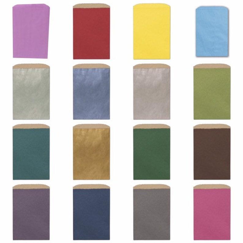 50Ct Large Flat Merchandise Paper Bags Kraft Bags Merchandise Bags Kraft Paper Bag Kraft Merchandise Paper Bags Color Bags Paper Bags