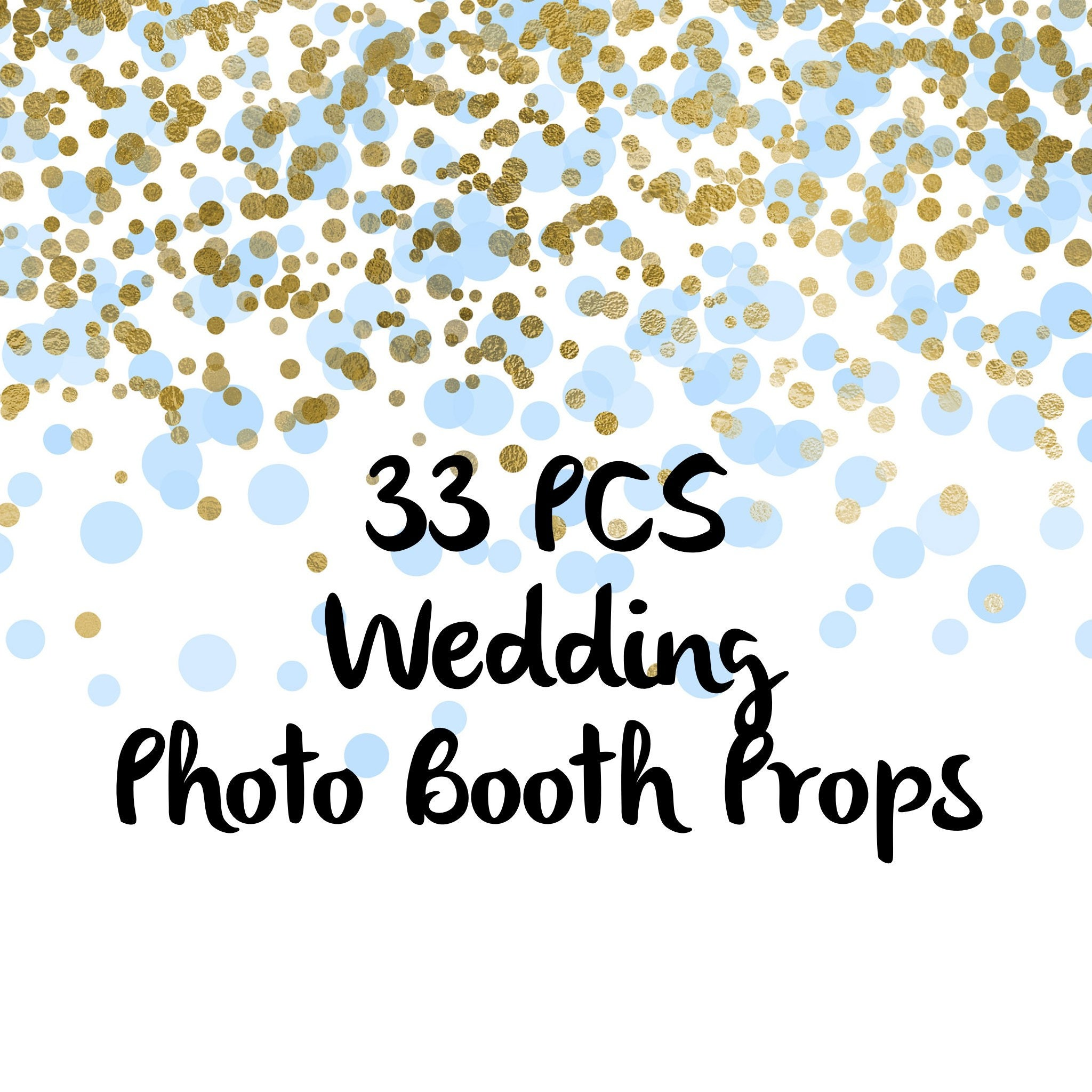 33pcs Just Married Fun Photo Booth Props Party Props Photo Etsy