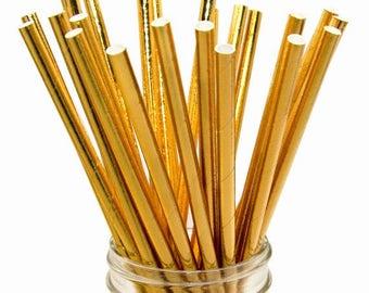 50 PCS Assorted Gold Foil Paper Straws, Straws, Party Supplies, Wedding Supplies, Wedding, Party, Baby Shower, Straws, Tableware