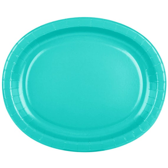 25 (12 X10 ) Teal Oval Paper Plate Wedding Supplies Wedding Wedding Decor Plastic Plates Party Supplies Paper Plates Wedding from ...  sc 1 st  Etsy Studio & 25 (12