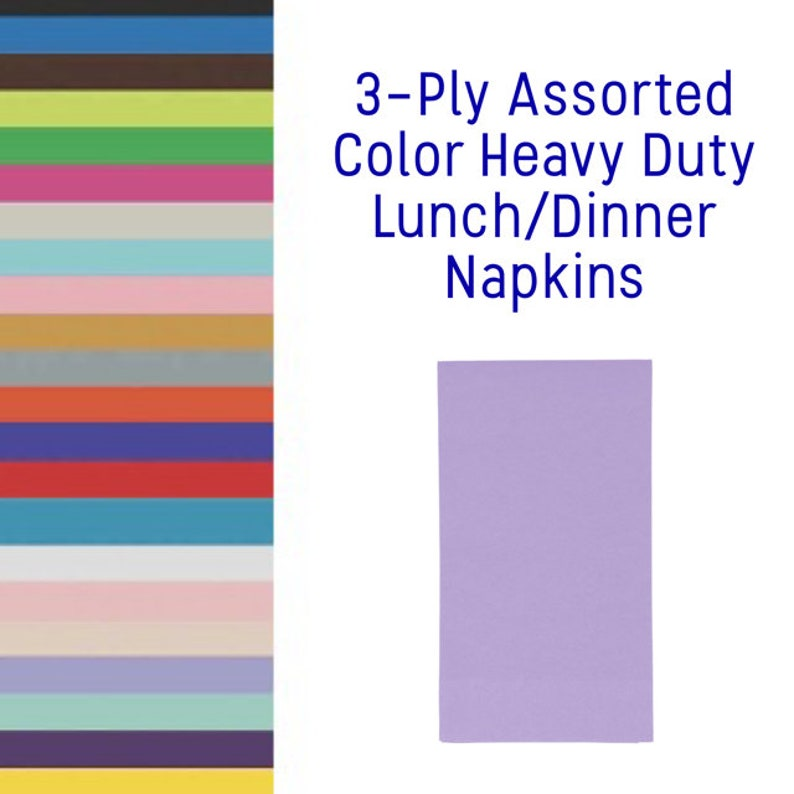 Dark Purple Paper Napkins 50ct