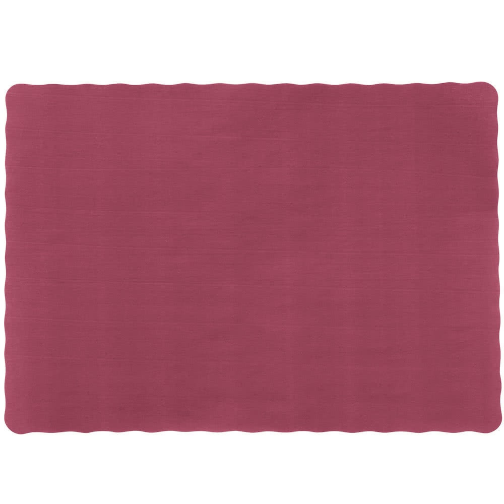 50Ct 10x14 Burgundy Paper Scalloped Placemats Party | Etsy