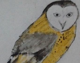 The OWL original acrylic painting