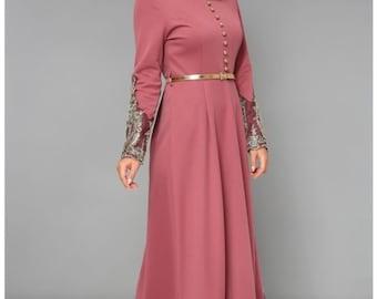 Muslim Abaya Dress Etsy