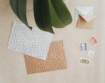 Raindrops envelope set