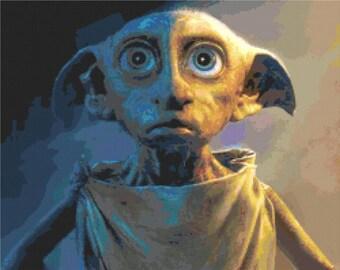 Harry Potter - Dobby the House Elf Cross Stitch Pattern
