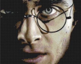 Harry Potter Daniel Radcliffe Cross Stitch Pattern