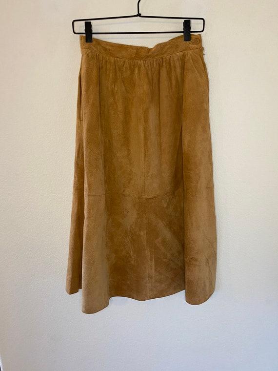 MIDI Suede Vintage Skirt