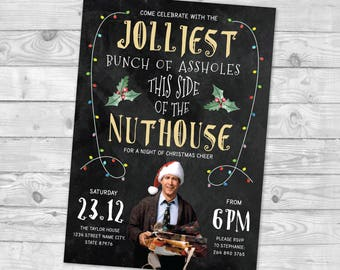 griswold christmas invite printable clark griswold invite christmas vacation invite jolliest bunch of invite funny christmas party invite