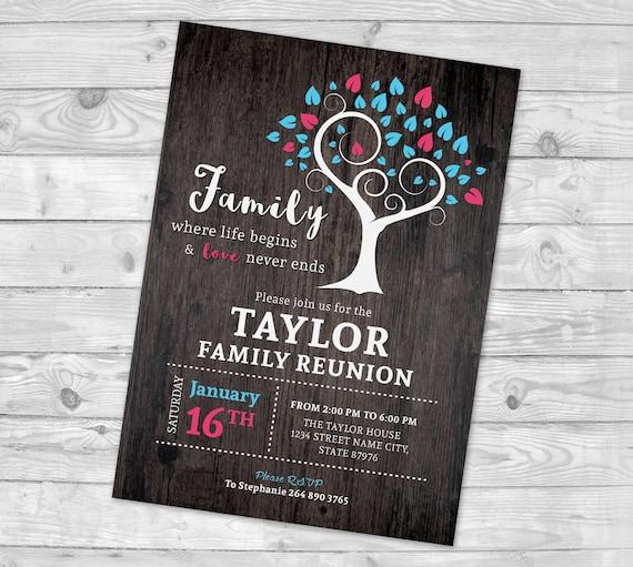 Family Reunion Invite Family Tree Invitation Reunion Invitation Family Party Reunion Invitation Family Reunion Party Invitation