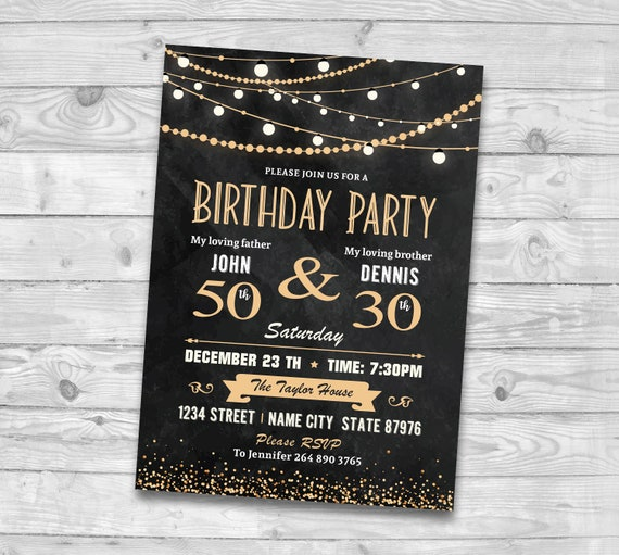 good dual birthday invitation for 19 joint birthday party invitation wording for adults