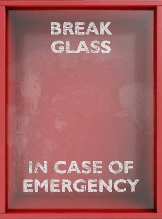 An empty red emergency box with an in case of emergency etsy image 0 maxwellsz