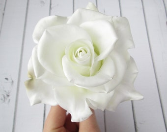 White Rose Hairpin - Rose Flower Hair Pin Accessories - Wedding Rose Hair Pin - Bride Hair Decoration Wedding Real Flower - Rose Bridal Pins