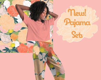 Peonies Lounge Pajama Top and Pants