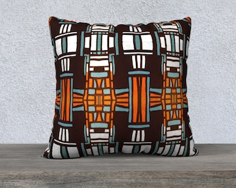 Mid Century Tiki Pillow Cover