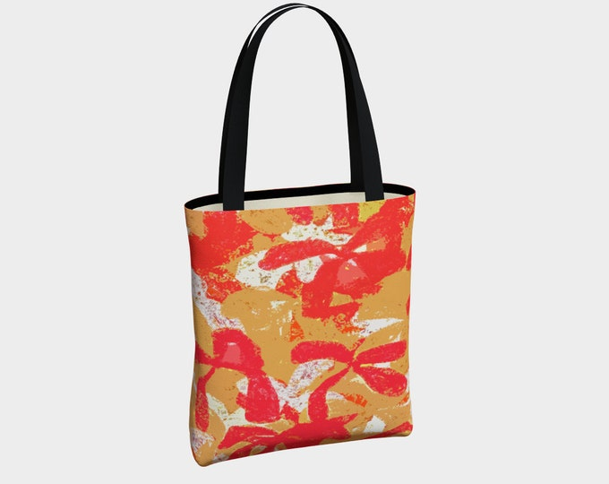 Tahiti Canvas Tote Bag, Shoulder Bag, Tote Bag, Floral Tote Bag, Canvas Tote Bag, Basic Tote Bag, Urban Tote Bag, Tote with Pockets