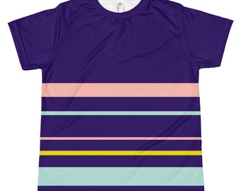 Kids Navy Striped T-shirt