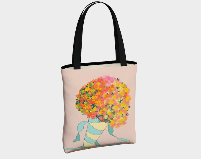 Pink Bouquet Tote Bag
