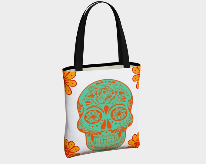 Sugar Skull Tote Bag