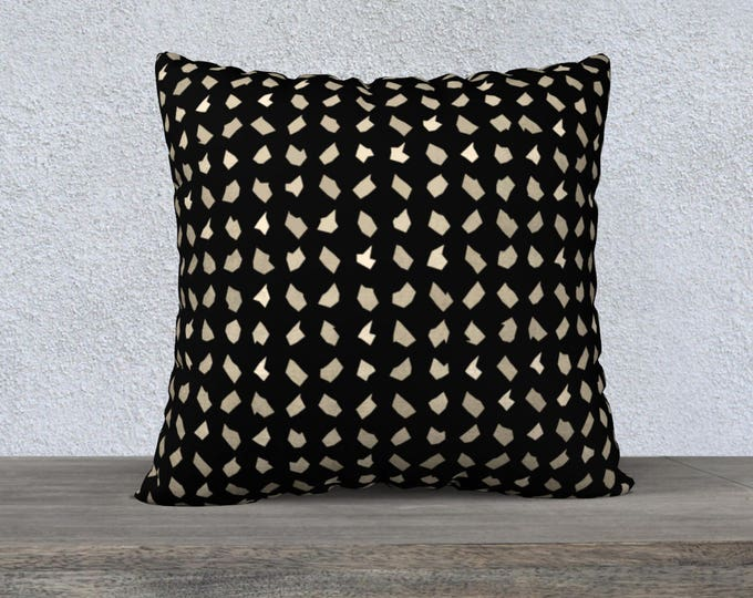 Black and White Decorative Pillow, Throw Pillow, Pillow Cover, Velveteen Pillow Cover, Canvas Pillow Cover, Sofa Pillow, Accent Pillow