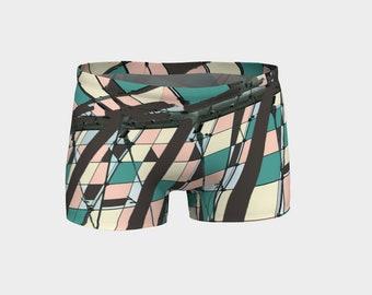 Neopolitan Women's Yoga Shorts, Shorts, Workout Shorts, Boy Shorts, Running Shorts, Yoga Shorts
