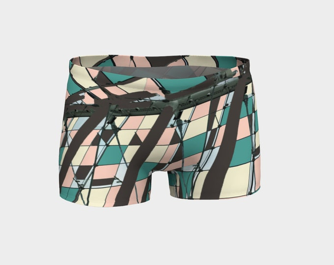 Neopolitan Women's Yoga Shorts, Shorts, Workout Shorts, Boy Shorts, Running Shorts, Yoga Shorts