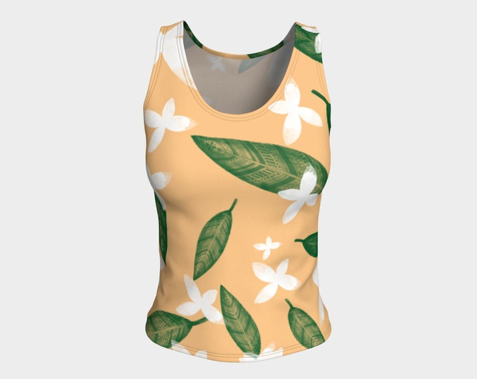 Free Fallen Leaves and Flowers Top, Tank Top, Tops, Tanks, Summer Top, Workout Top, Women's Top, Women's Tanks, Summer Tanks