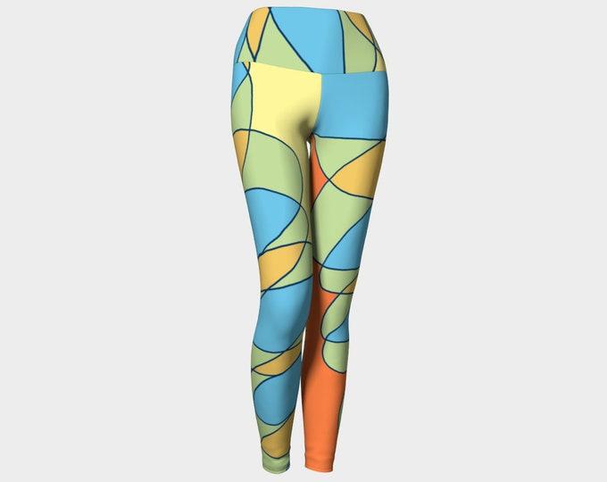 Scribbler Yoga Leggings, Women's Leggings, Printed Leggings, Leggings, Leggings for Women, Workout Leggings, Fashion Leggings