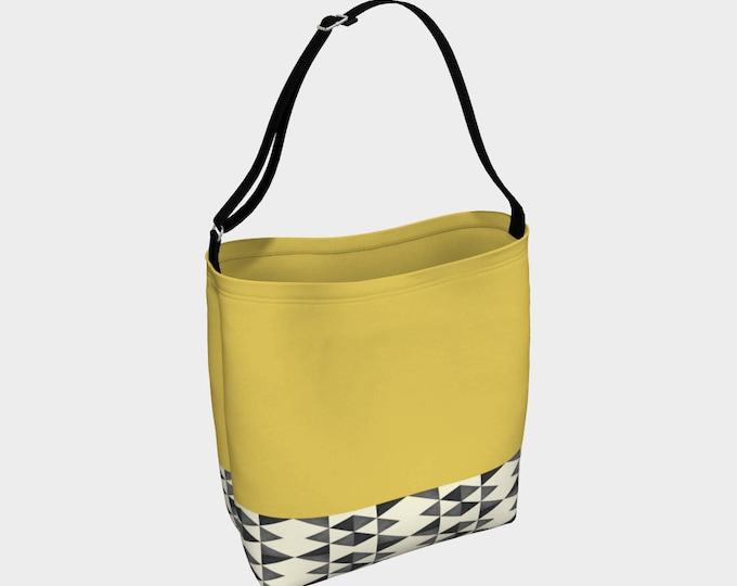 Mustard Tribal Tote Bag