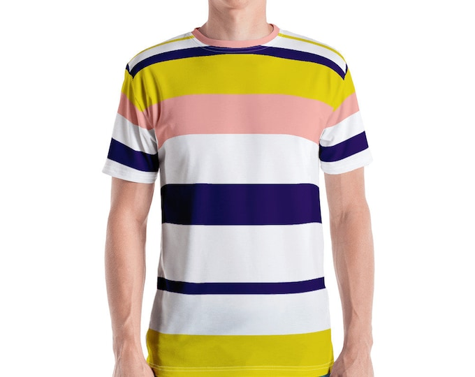 Vintage Look Summer Time Stripe Men's T-shirt
