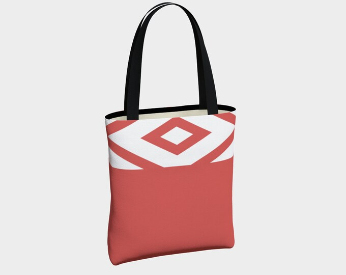 Tribal Punch Tote Bag, Canvas Tote Bag, Glamour Tote, Fashion Tote, Basic Tote Bag, Urban Tote Bag, Lined Tote Bag, Tote with Pockets