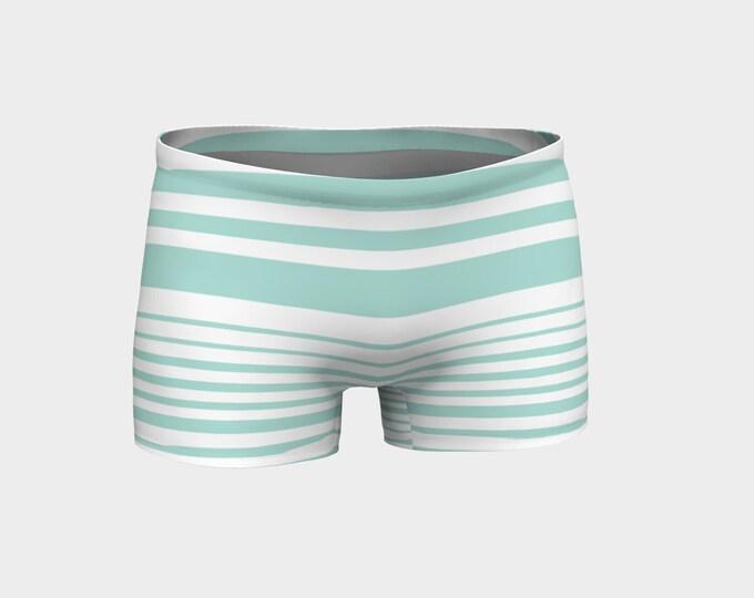 Mint Striped Shorts