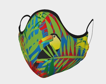 Toucan Face Mask, Washable, Cloth Face Mask