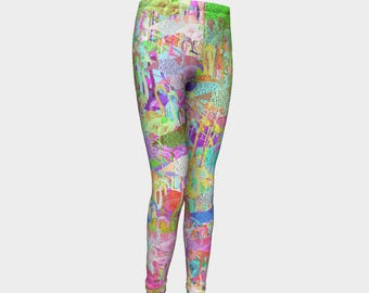 Girls Leggings, Flamingos Leggings, Flamingos, Girls Yoga Leggings, Leggings, Girls Clothes, Dance Leggings, Girls Yoga Pants, Gift for Girl