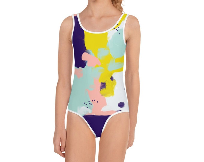 Girls Funky Time Swimsuit